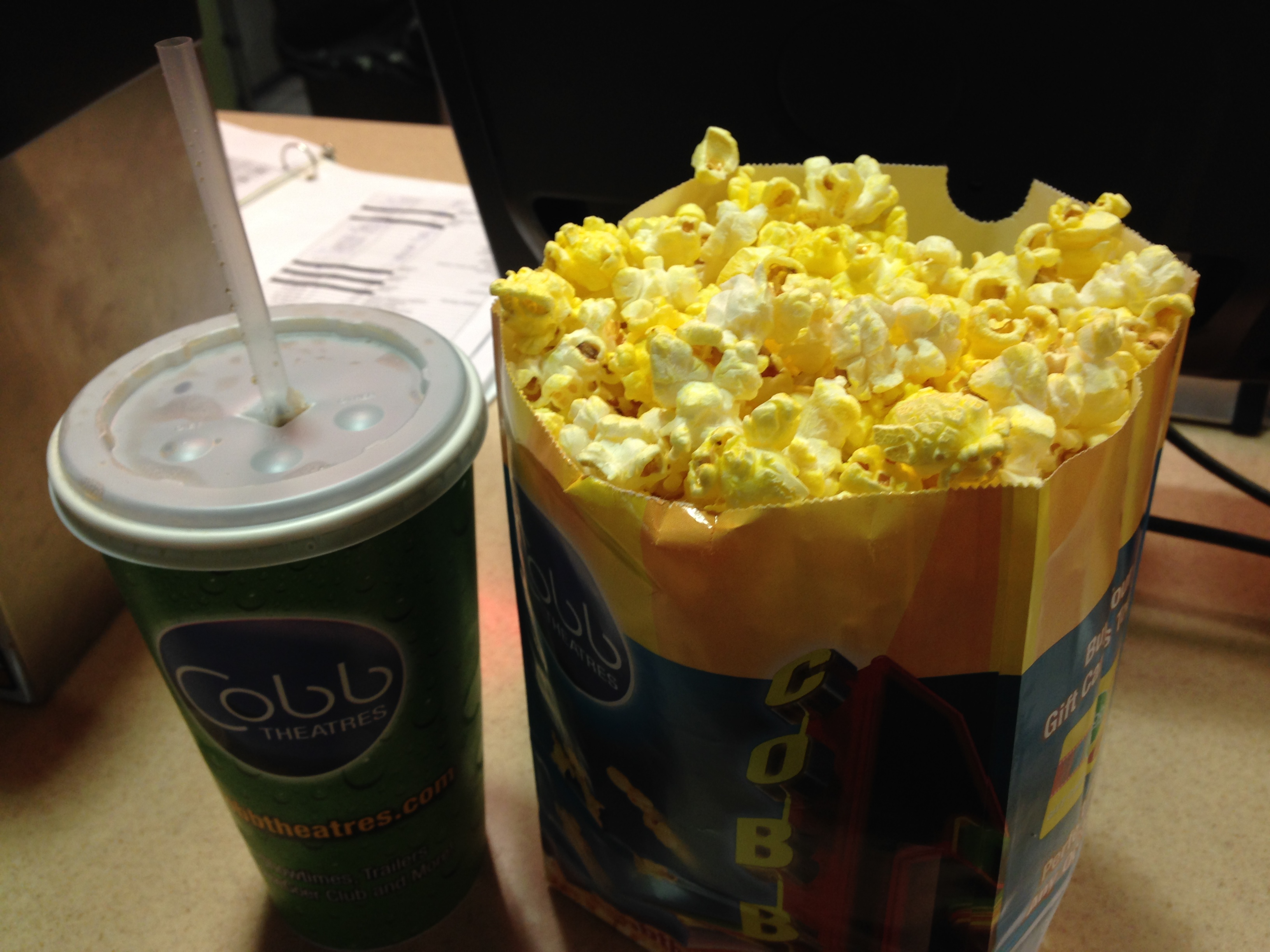 Movie Theater Popcorn and Pizza Hut Personal Pan Pizzas A