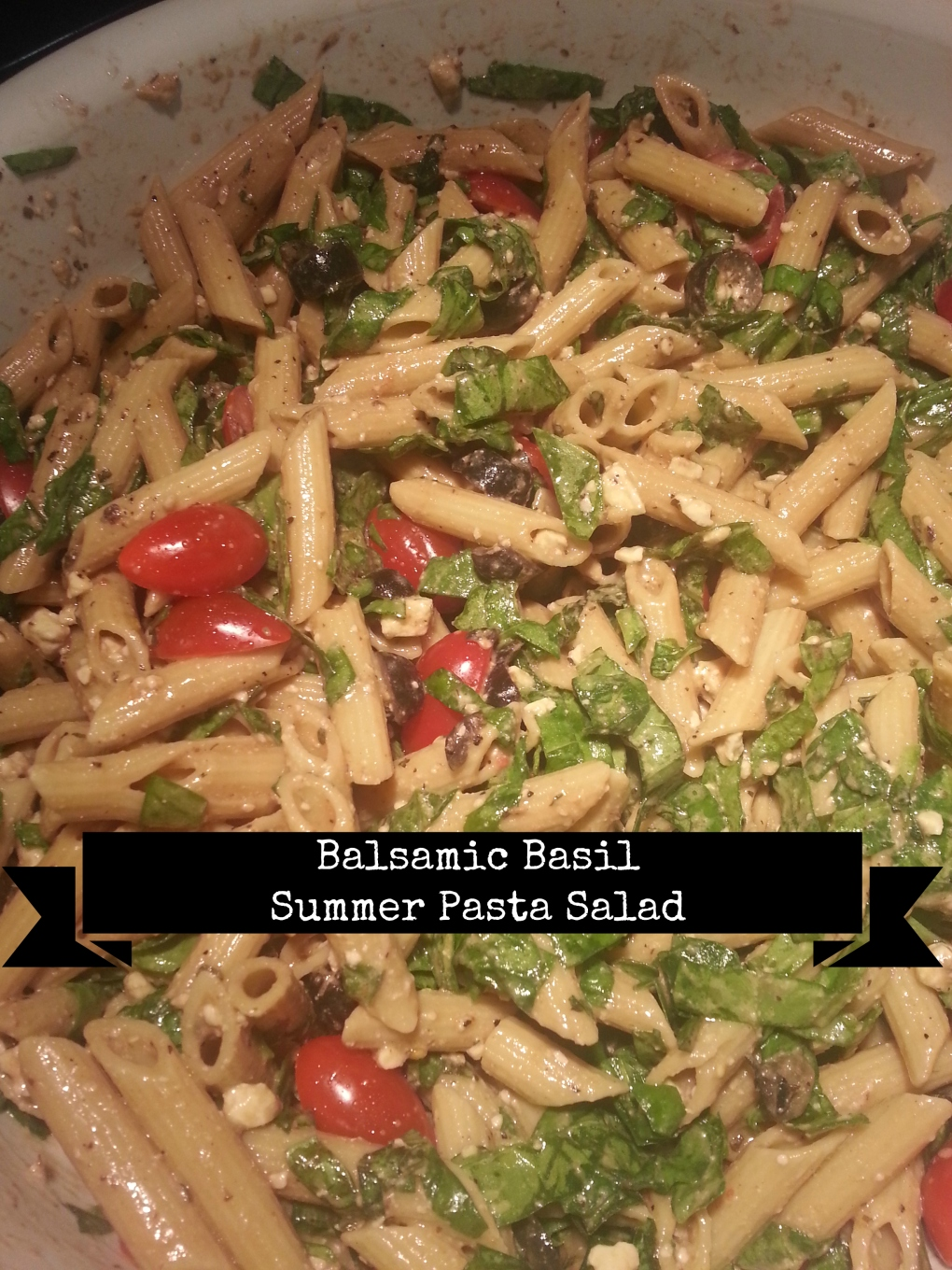 balsamic basil summer pasta salad